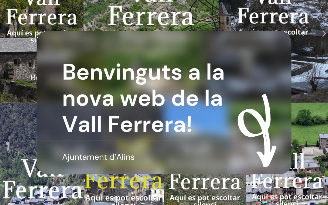 Benvinguts a la nova web de la Vall Ferrera